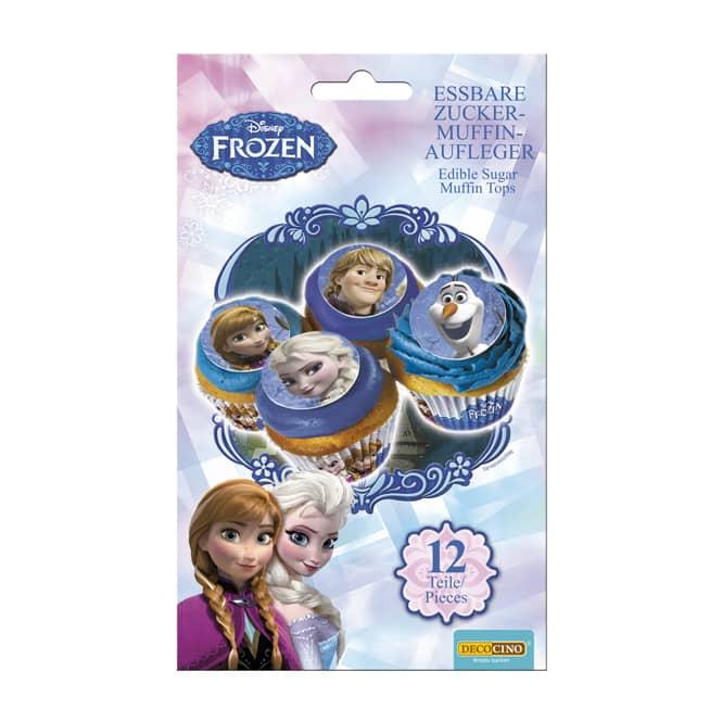 Muffinaufleger - aus Zucker - Die Eiskönigin - 12 Stück