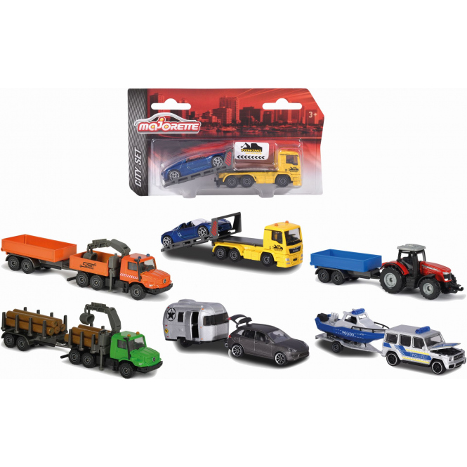 City - Fahrzeug mit Anhänger - 1 Stück