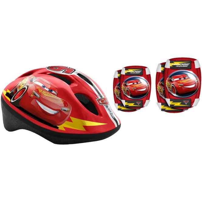 Cars - Combo Set - Helm, Ellbogen- und Knieschutz