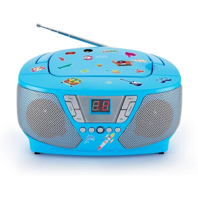Tragbarer CD-Player blau