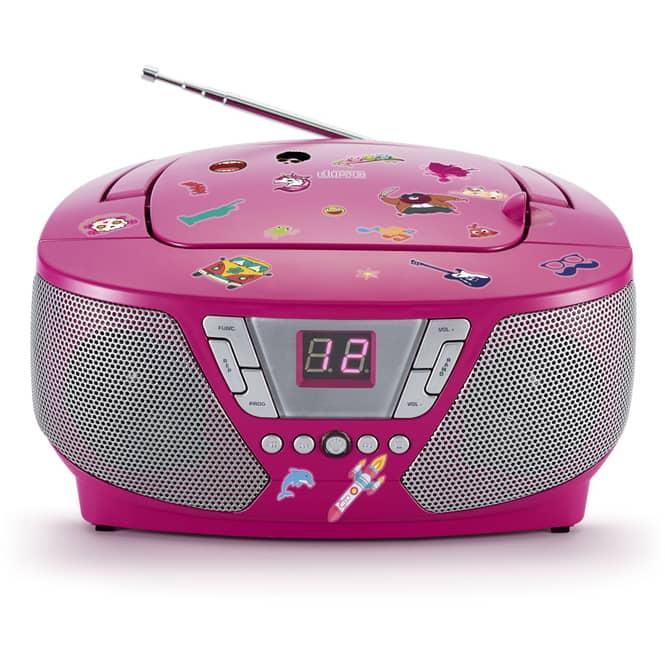 Tragbarer CD-Player pink