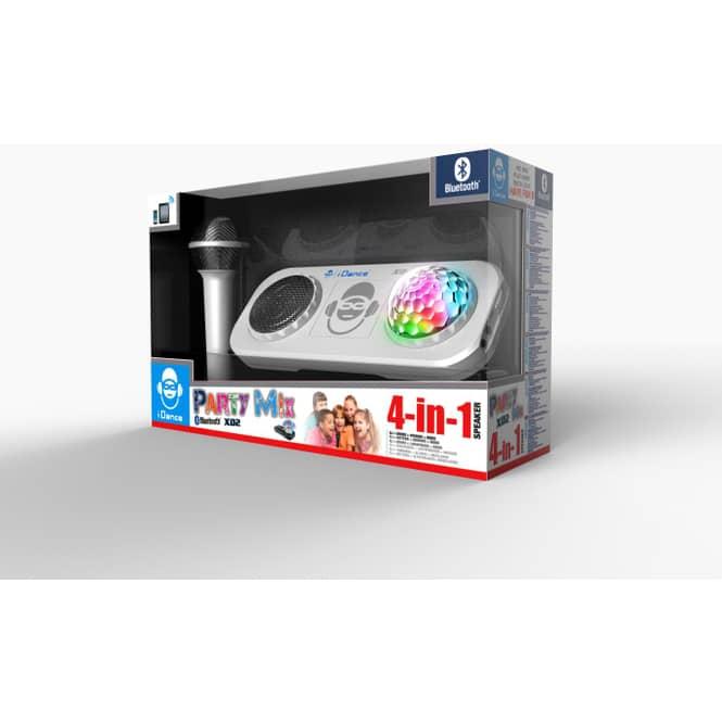 Bluetooth Musik-Box XD2 in silber - mit Disco-Ball - Akku betrieben
