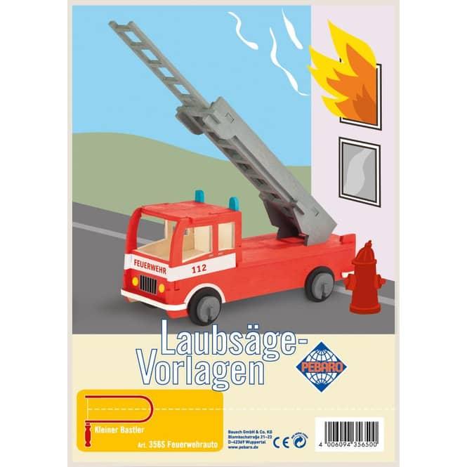Laubsägevorlage Feuerwehrauto