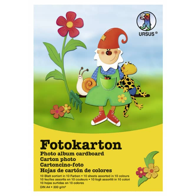 Fotokarton DIN A3 - 10 Blatt in 10 Farben