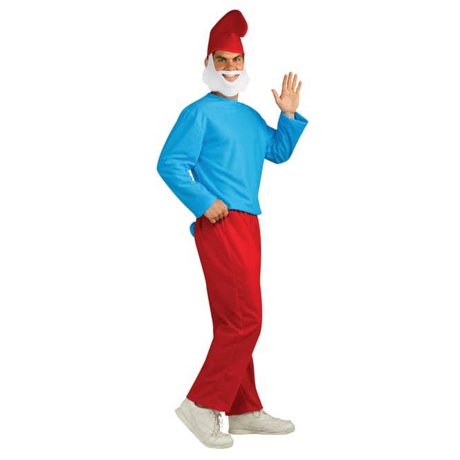 Papa Schlumpf Kostüm für Erwachsene