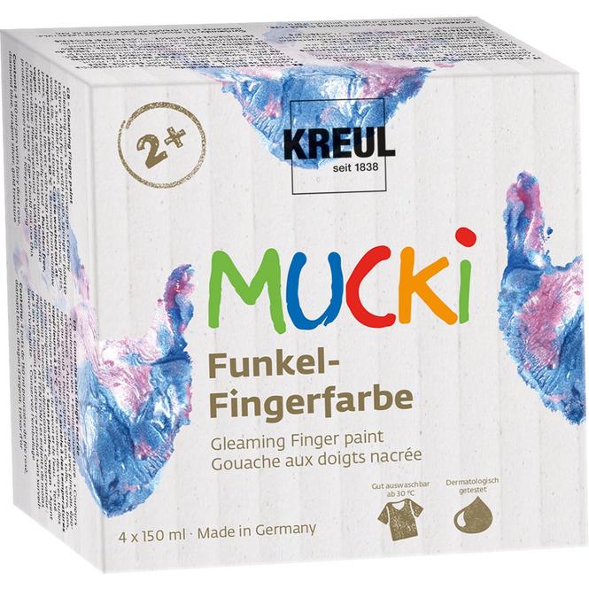 MUCKI Funkel-Fingerfarbe - 4er Set