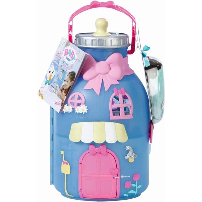 BABY born® Surprise - Bottle Playset - Haus Spielset mit 1 Puppe
