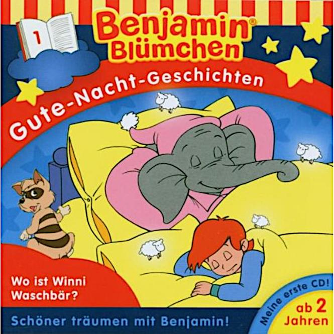 Benjamin Blümchen - Hörspiel CD - Folge 1 - Gute-Nacht Geschichten