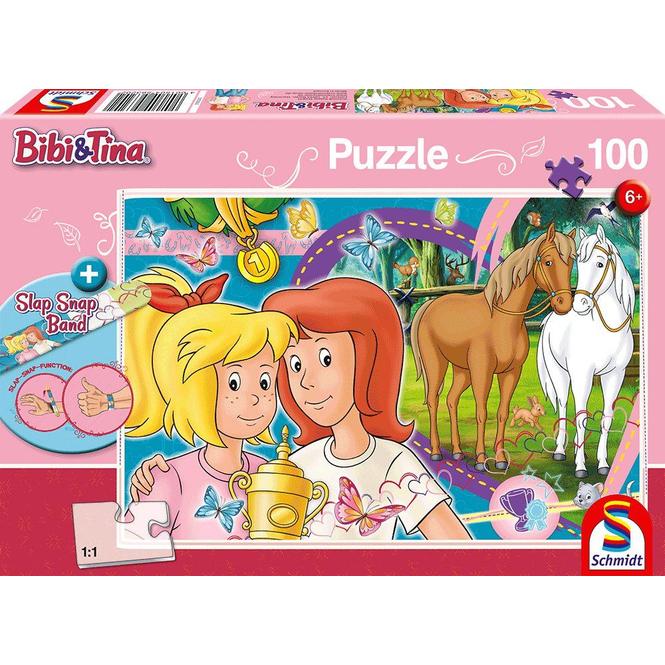 Bibi & Tina - Puzzle - Pferdeglück - inkl. Slap Snap Band