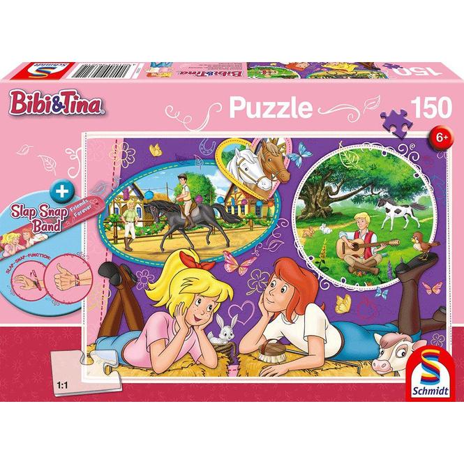 Bibi & Tina - Puzzle - Freundinnen für immer- inkl. Slap Snap Band