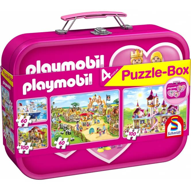 Puzzle-Box - Playmobil pink - 4-in-1