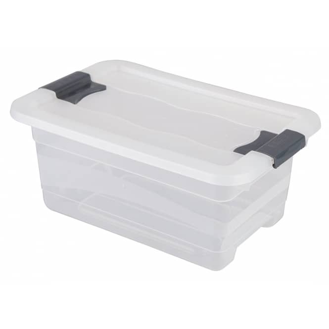 Kristallbox mit Deckel - transparent - 4L