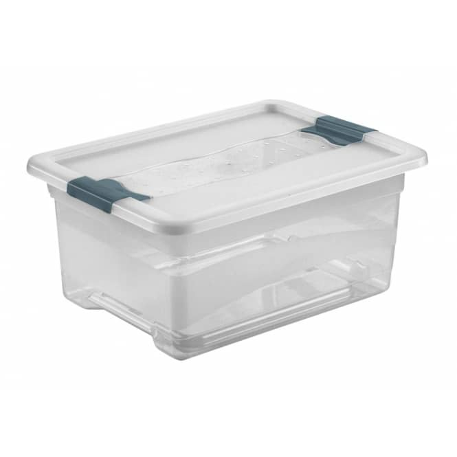Kristallbox mit Deckel - transparent - 12L