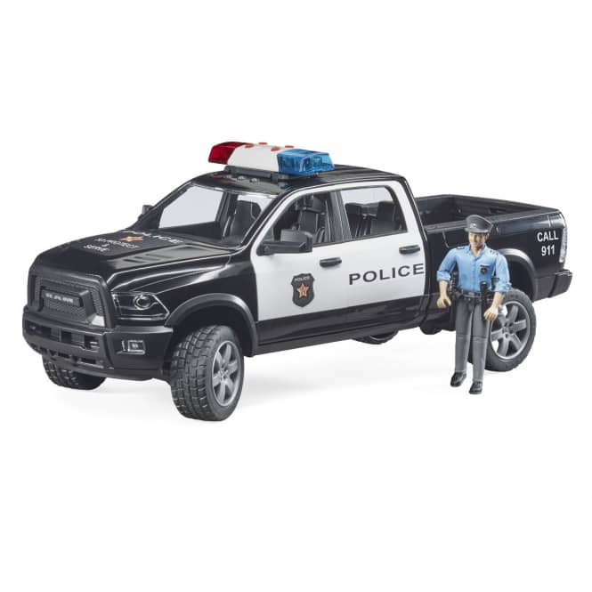 BRUDER 02505 RAM 2500 Polizei Pickup - mit Polizist