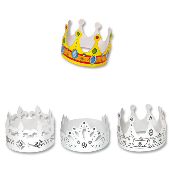 6 Kinder-Kronen aus Pappe