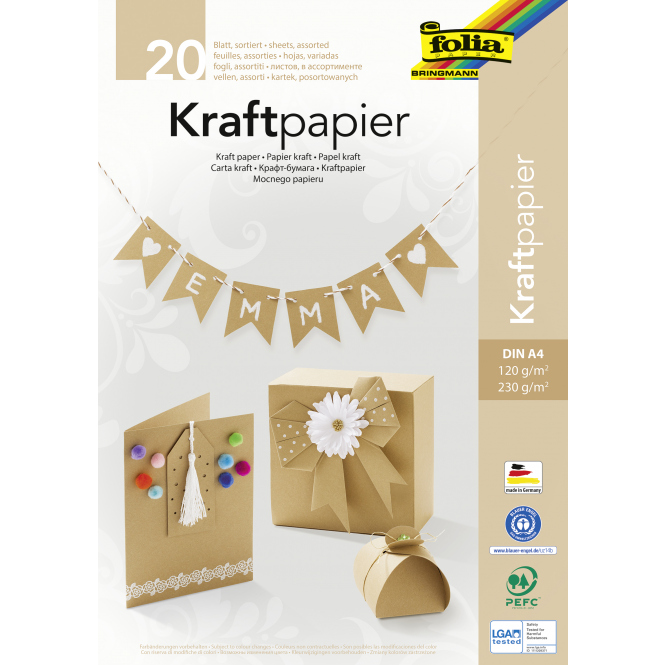 Kraftpapier-Block DIN A4 - 20 Blatt