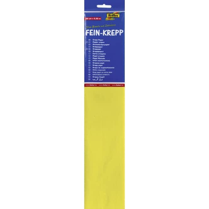 Fein-Krepp - gelb - 10 Papierlagen