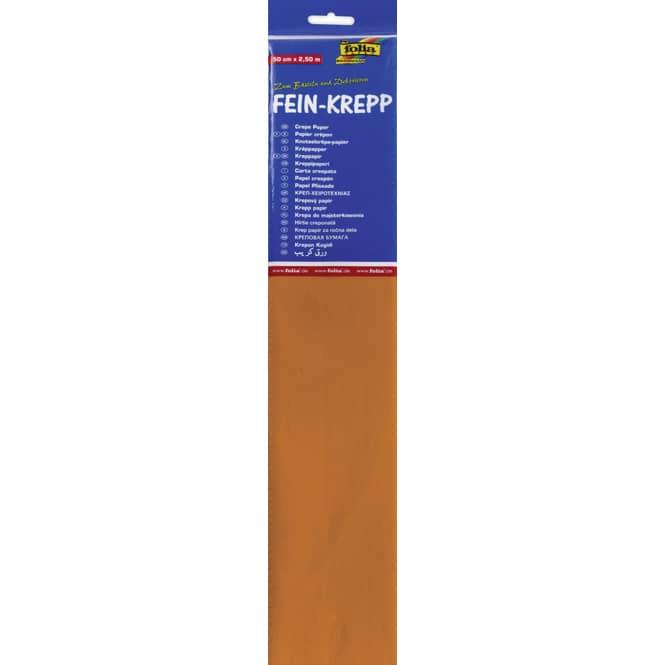 Fein-Krepp - hellorange - 10 Papierlagen