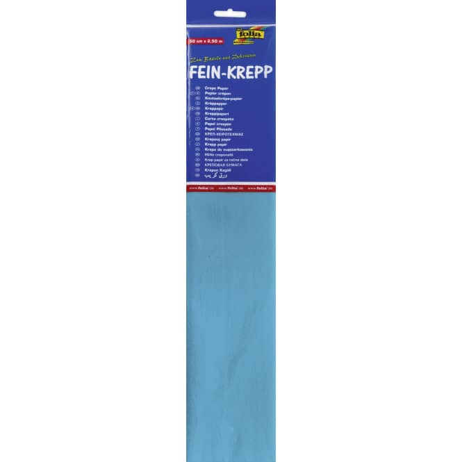 Fein-Krepp - lichtblau - 10 Papierlagen