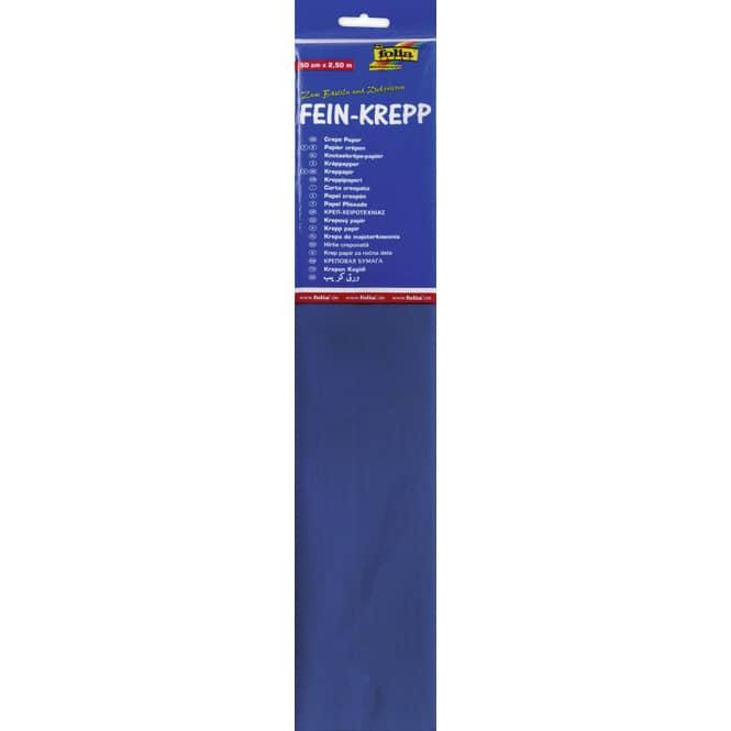 Fein-Krepp - brillantblau - 10 Papierlagen