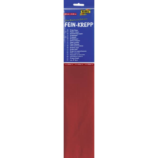 Fein-Krepp - feuerrot - 10 Papierlagen