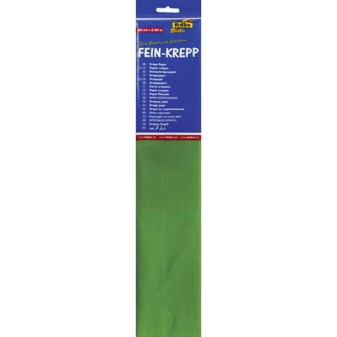Fein-Krepp - gelbgrün - 10 Papierlagen