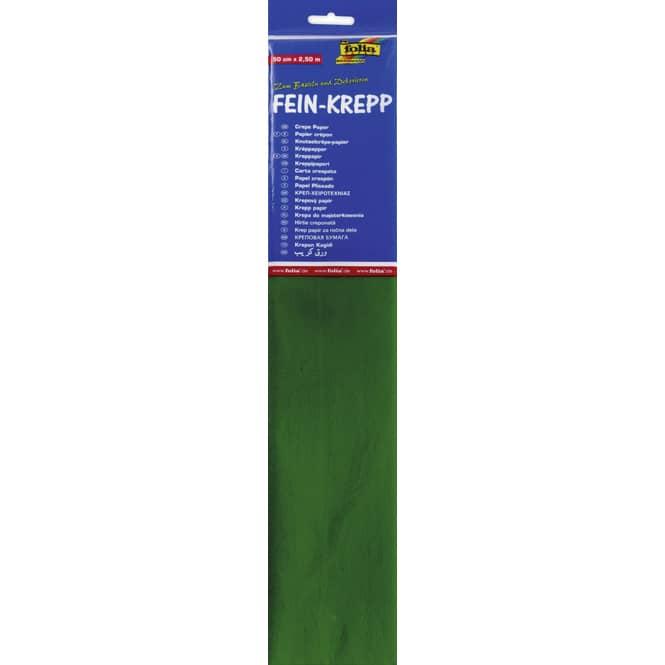 Fein-Krepp - moos grün - 10 Papierlagen