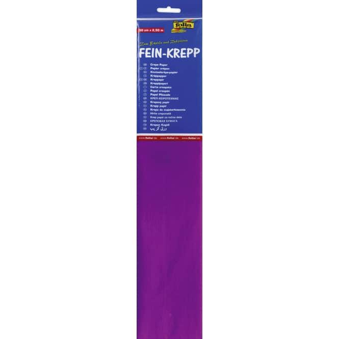 Fein-Krepp - primel pink - 10 Papierlagen