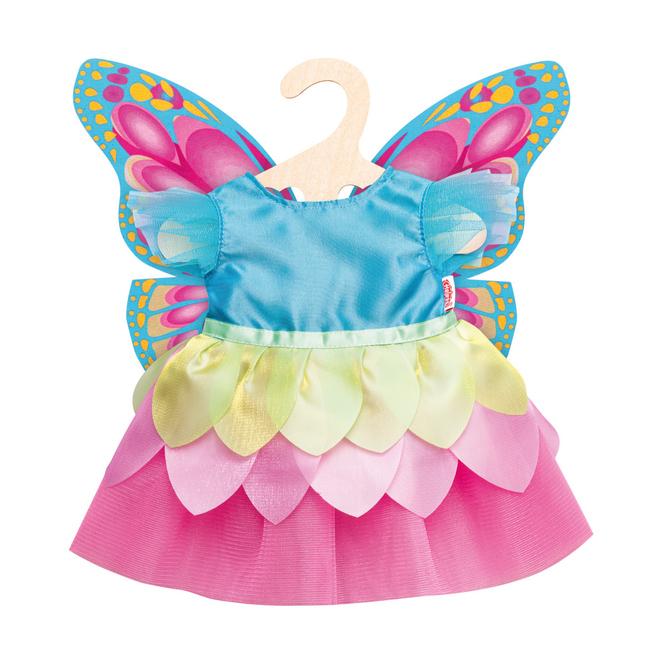 Puppen Feenkleid Schmetterling - Größe 28-35 cm