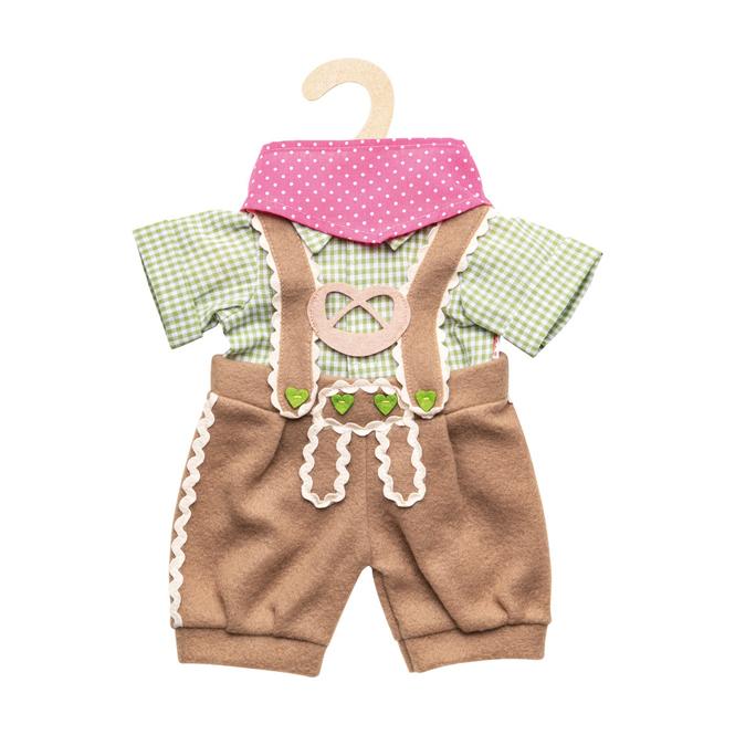 Puppen Trachtenhose mit Hemd - 3 Teile - Größe 28-35 cm