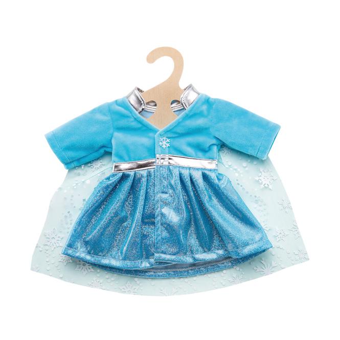 Puppen Mantel Eisprinzessin mit Cape - Größe 28-35 cm