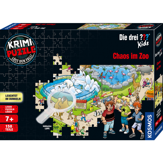 Die drei ??? Kids - Krimipuzzle - Chaos im Zoo