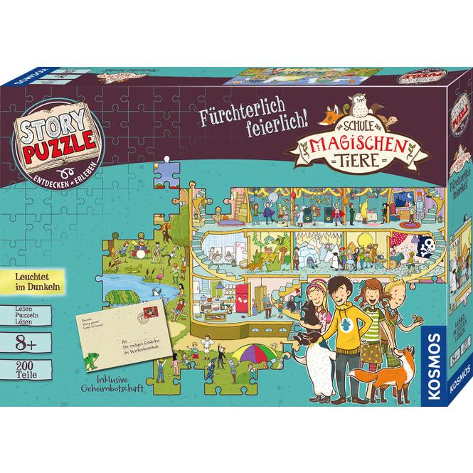 Story Puzzle - Die Schule der magischen Tiere - Fürchterlich feierlich! - 200 Teile