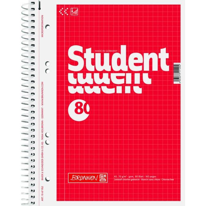 Collegeblock A5 kariert - 80 Blatt - 1 Stück