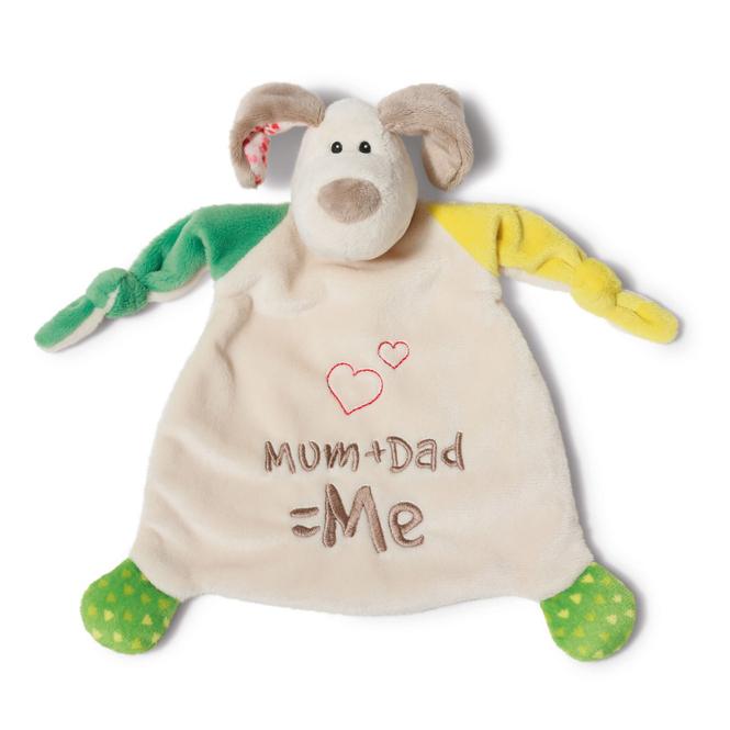 My first Nici - Schmusetuch - Hund Fino - Mum + Dad = Me - Nici