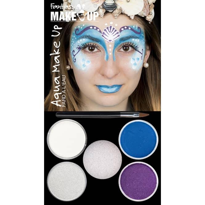 Schminkset - Fantasy Aqua Make-Up - 6-teilig - Meerjungfrau