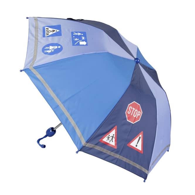 Regenschirm - Verkehrsschilder - blau
