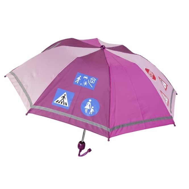 Regenschirm - Verkehrsschilder - violett
