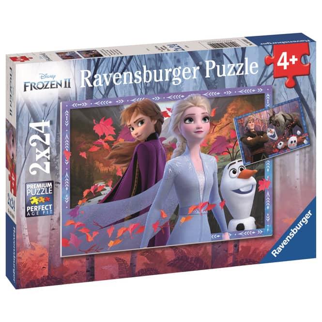 Kinderpuzzle - Die Eiskönigin 2 - Frostige Abenteuer - 2 x 24 Teile