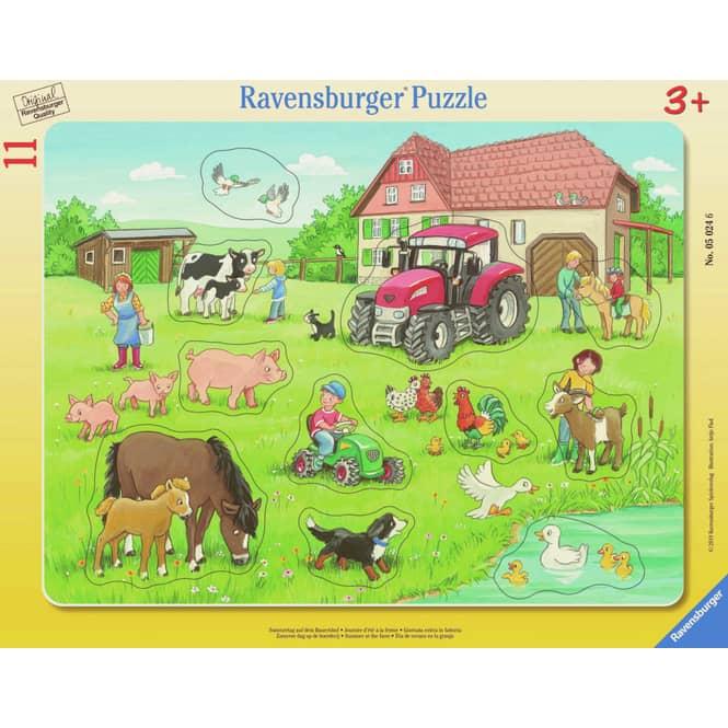 Rahmenpuzzle - Sommertag auf dem Bauernhof - 11 Teile