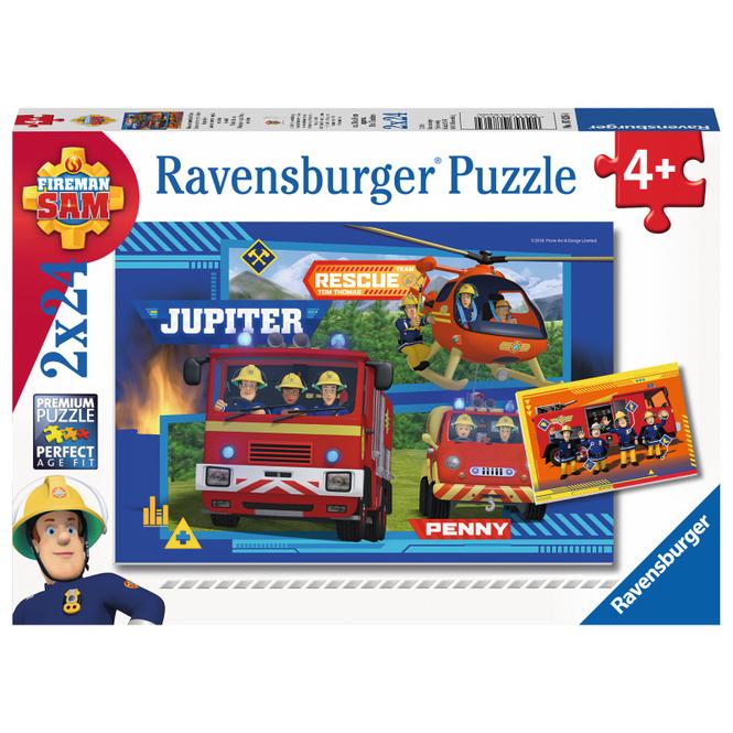 Puzzle-Box - Wasser Marsch mit Feuerwehrmann Sam - 2x 24 Teile