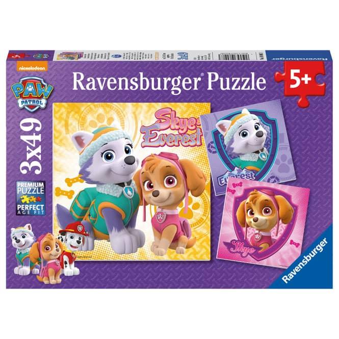 Puzzle-Box - Paw Patrol - Bezaubernde Hundemädchen - 3x 49 Teile