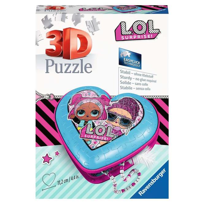 3D Puzzle - LOL Surprise! - Herz - 54 Teile