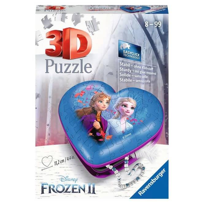 3D Puzzle - Die Eiskönigin 2 - Herzschatulle - 54 Teile