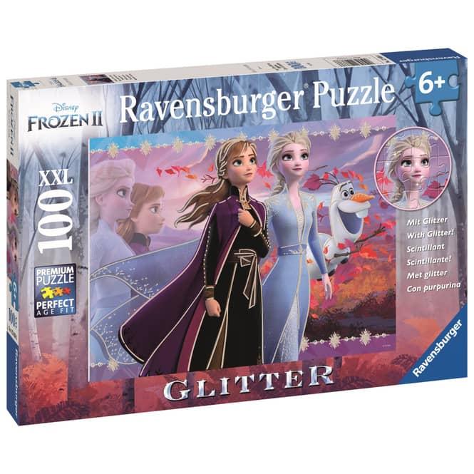 Kinderpuzzle - Die Eiskönigin 2 - Starke Schwestern -100 Teile Glitzer
