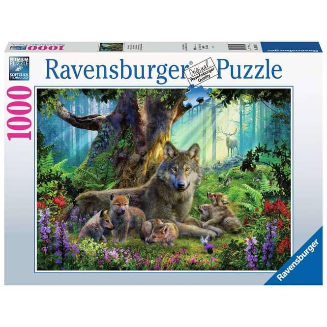 Puzzle - Wölfe im Wald - 1000 Teile