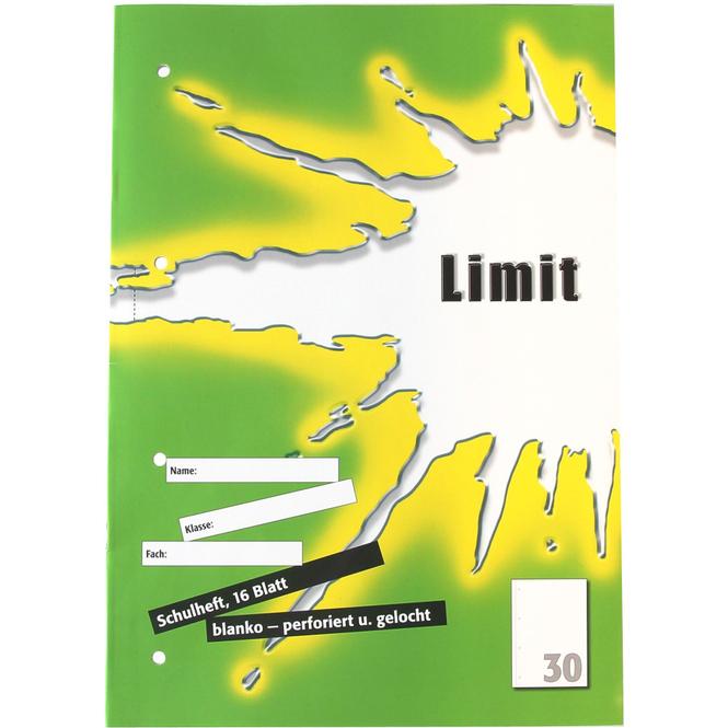 Schulheft DIN A4 blanko - Lineatur 30 - perforiert
