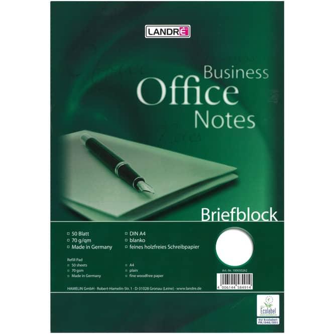Briefblock A4 - blanko - 50 Blatt