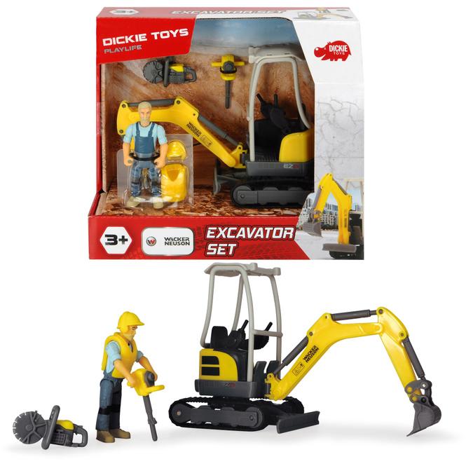 Dickie - Bagger - Excavator-Set