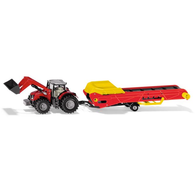 Siku Farmer 1996 - Traktor Massey Ferguson mit Förderband